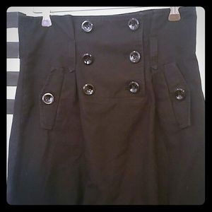 ARMANI EXCHANGE BUTTON BLACK SKIRT SIZE 0