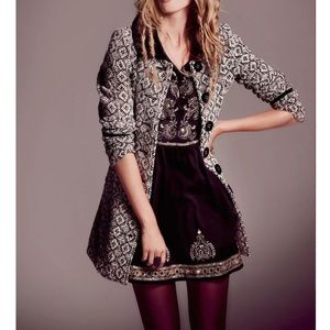 Free People Jackets & Blazers - FREE PEOPLE Boho Coat Intricate Long Draped Jacket
