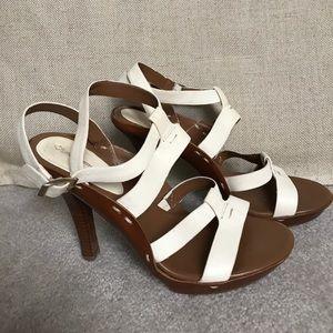 Via Spiga Shoes - Via Spiga cream strappy sandals 8.5
