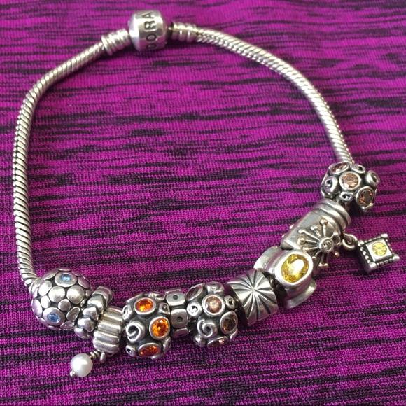 65 pandora jewelry pandora bracelet 11 charms