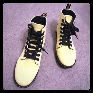 Rare Bright Yellow Canvas Dr. Martens Ankle Boots