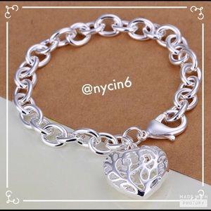 Sweetheart Hollow Heart Bracelet