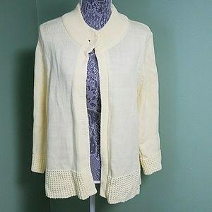 Croft & Barrow Yellow Ladies Cardigan / Sweater