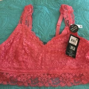 Laura Ashley Other - NWT Laura Ashley PLUS SIZE pink lace bralette