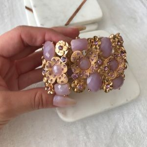 Jewelry - Gold and rhinestone bracelet