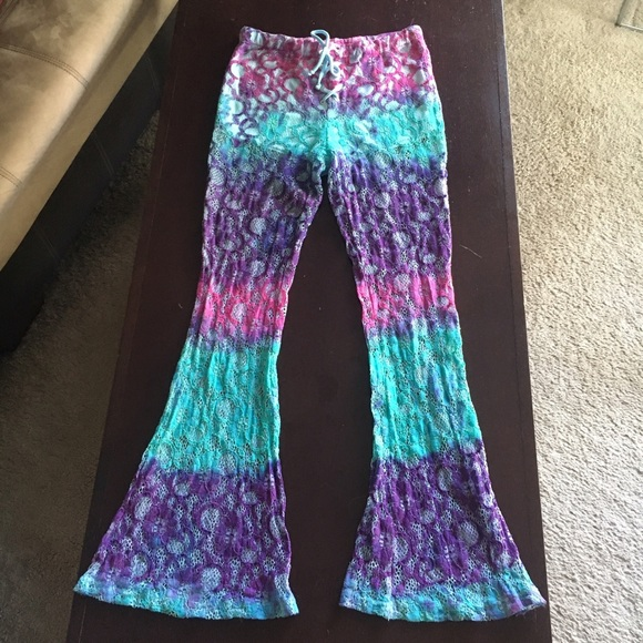 b9c83c655b Forever 21 Pants | See Through Tie Dye Lace Bell Bottoms | Poshmark