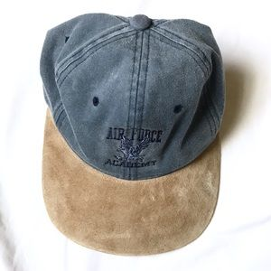 Accessories - Vintage Air Force Dad Baseball Cap Denim Suede Hat b795be8f00db