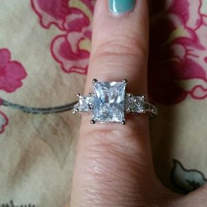 coleyroleypoley Jewelry - 3 Carat Radiant Cut Simulated Diamond Ring