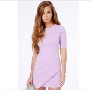 Misguided Bonitta Orgiami Lilac Dress