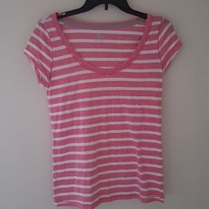 SO Tops - Scoop Neck Striped Top Size Large