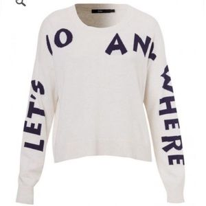 "Sportsgirl ""Let's go anywhere"" sweater"