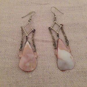 Jewelry - Pink artisan earrings