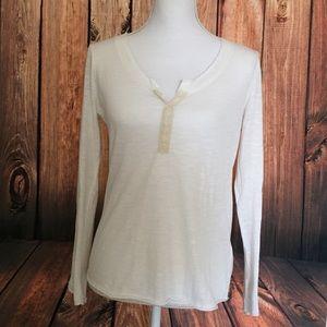 White kirra crocheted long sleeve