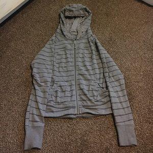Lulu zip up Scuba (?) hoodie.