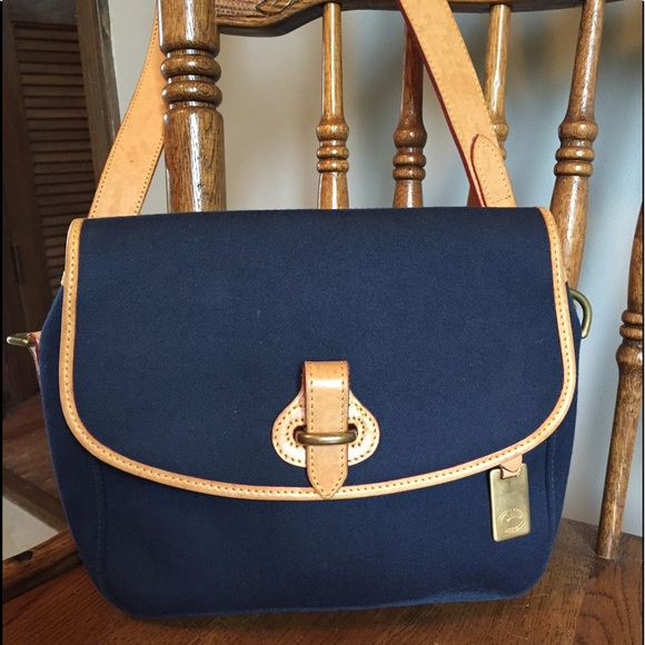 0ce1bd4c91f3 Dooney   Bourke Handbags - Vintage Dooney Cabriolet cloth and tan leather  bag