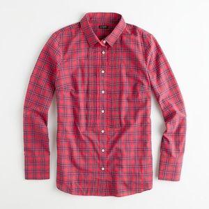 J. Crew Factory Tops - J.Crew Factory Tartan Tuxedo Shirt  XS H1