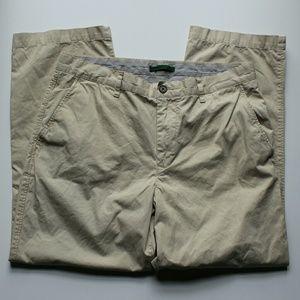 Lacoste Pants - NWOT Lacoste 100% Cotton Cropped Tan Khaki Pants