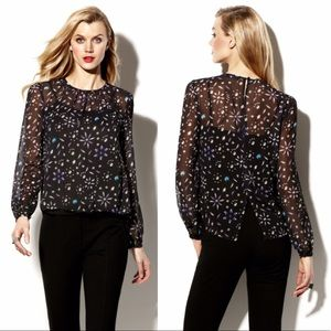 Vince Camuto Jewel Printed Blouse Top