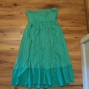 Project e Vintage XX Dresses & Skirts - Aqua Strapless Sundress with Tie Back Size Large