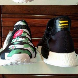 Adidas Shoes - Custom Pharrell human race NMD shoe Off-White