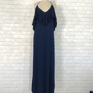 Ali Ro Dresses & Skirts - Ali Ro Navy blue halter Maxi Dress size 8