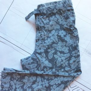 COLUMBIA Pants tropical design