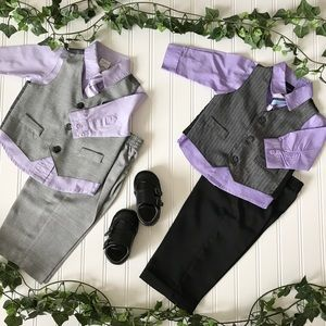 Starting Out Other - Baby Boy 4-piece Vest Suit Bundle
