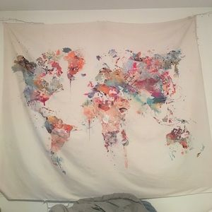Other - World map tapestry