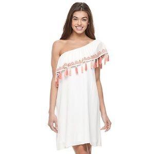 One-Shoulder Tassel Dress