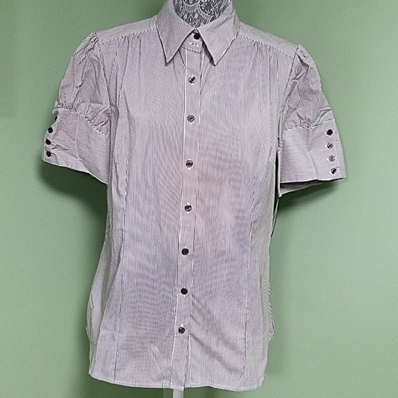 32 off apt 9 tops apt 9 brown stripes over white button for White shirt brown buttons