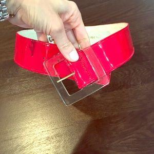 Yves Saint Laurent Accessories - Yves Saint Laurent red patent leather belt