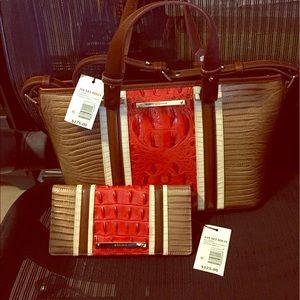 Brahmin Handbags - Brahmin Mini Asher & Ady Wallet set