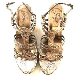 Fergie Shoes - Bronze Fergie Wedges