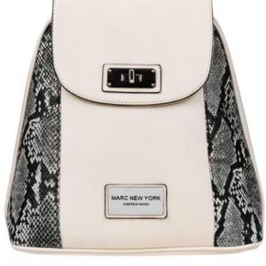 MARC NEW YORK ZIP AROUND FAUX-LEATHER BACKPACK