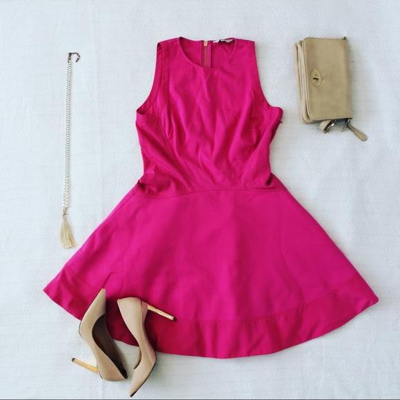 Ted Baker London Dresses & Skirts - HP Ted Baker Pink Hearn Contrast Side Skater Dress