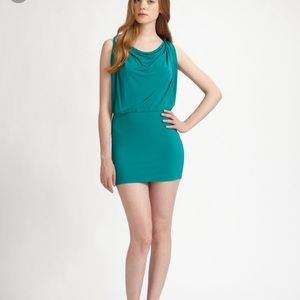 NWT BCBG MaxAzria Yulia dress teal, Sleeveless