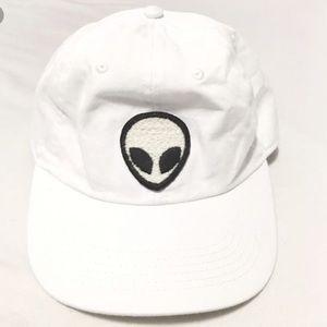 Brandy Melville Accessories - Brandy Melville White alien hat