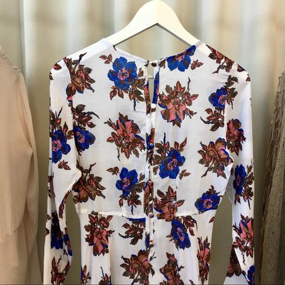 Dresses - Long Sleeve Floral Maxi Dress