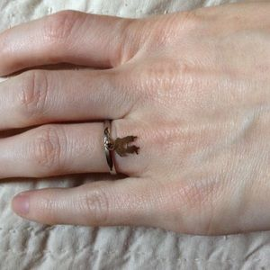 Kiss Couple Silhouette Ring 