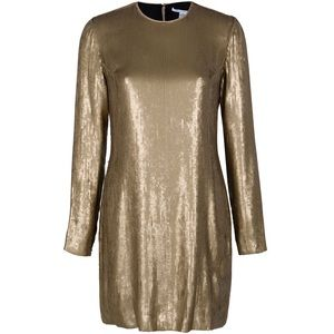 *NWT* DVF Pauletta Gold Sequin Dress