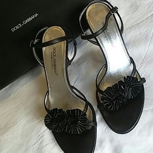 Authentic Dolce and Gabbana lamb leather heels 8.5