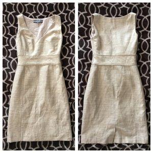 Anne Klein Dresses & Skirts - Anne Klein size 4 textured gold and white dress!