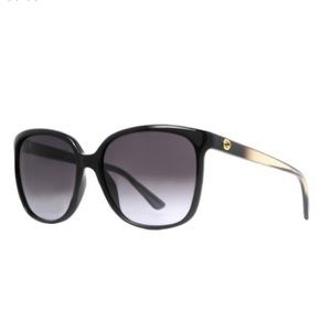 Gucci Accessories - Gucci Black with gold Sunnies