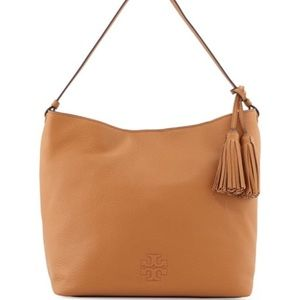 "Tory Burch ""Thea"" Hobo bag in the color bark."