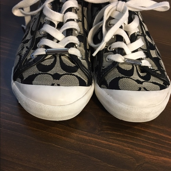 81% off Coach Shoes - ONE DAY SALE EUC grey and black ...