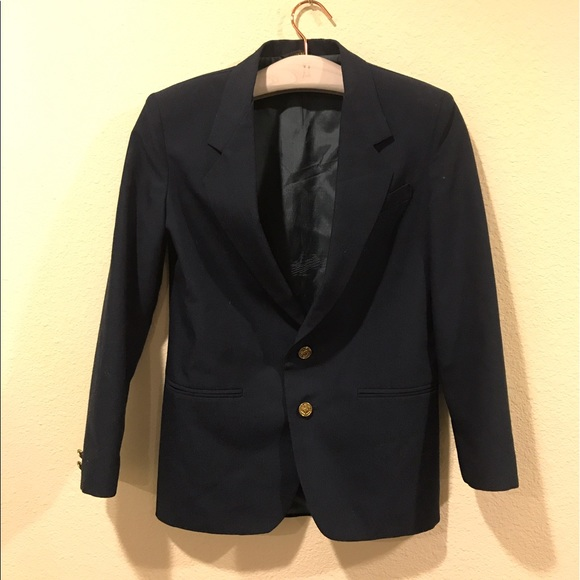 Vintage navy blazer with gold buttons