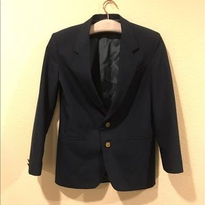 Jackets & Blazers - Vintage navy blazer with gold buttons