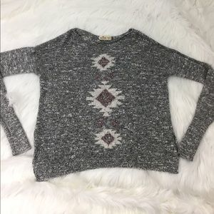 Hollister Sweaters - Hollister heathered gray Aztec design sweater XS/S