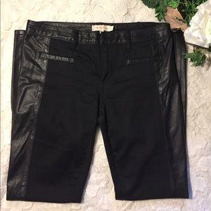 EUC Tori Burch Leather Leggings, 28