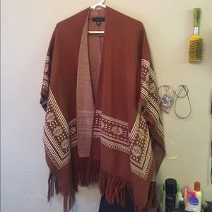 primark Jackets & Blazers - Burnt orange poncho